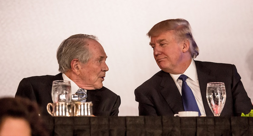 Pat Robertson and Donald Trump