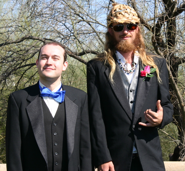 Groom Thad and Best Man Hannibal