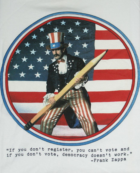 If you don't register, you can't vote and if you don't vote, democracy doesn't work.